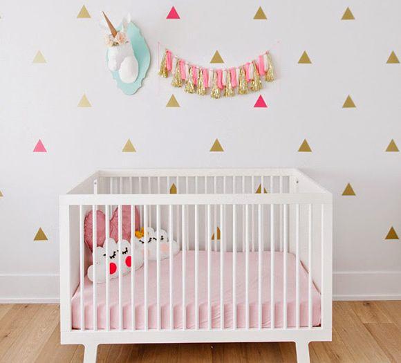 La chambre bébé d'Ellia - Glitter & The girls / chambre bébé, baby room, cute, kidroom, deco