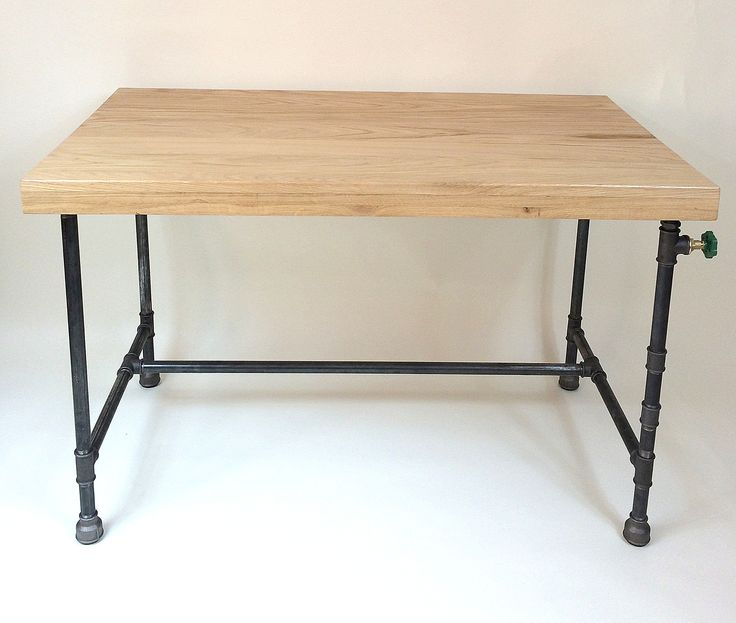 Oak planks desk  protected with eco matt lacquer. Dimensions are :  lenght - 115 cm  width 65  height 75 cm.
