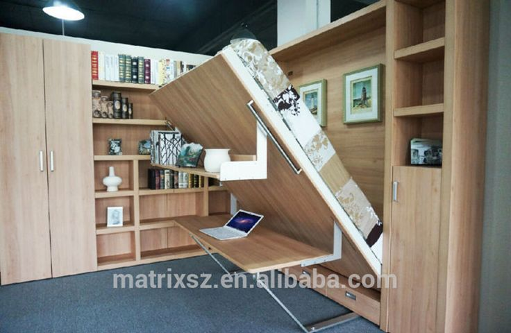 Wall Bed With Study Table Smart Furniture Innovative Bed
