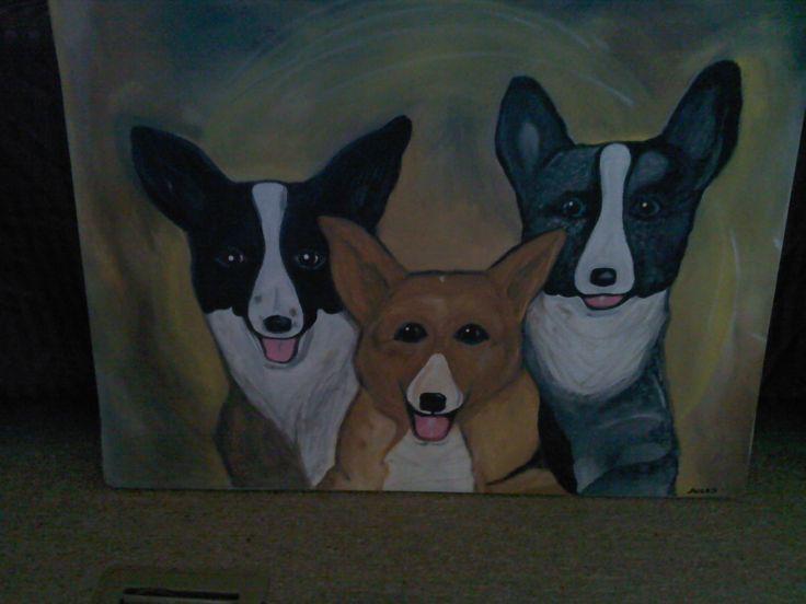 sold dog portrait for customer