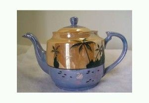japanese lusterware   Japan Tropical Lusterware Tea Pot