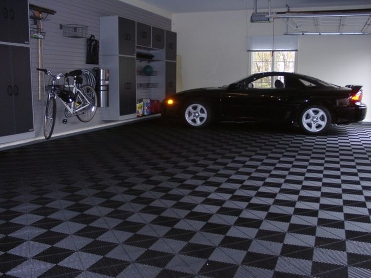 Rubber Garage Flooring Design Ideas For Large Garage Room Amazing Design