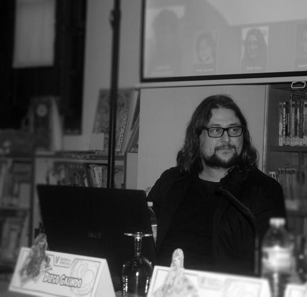 """V edición de Autores en Viñetas. Mesa """"Encuentro comiquero en Sevilla"""", Diego Galindo — en Carmona. www.nambaruan.com"""
