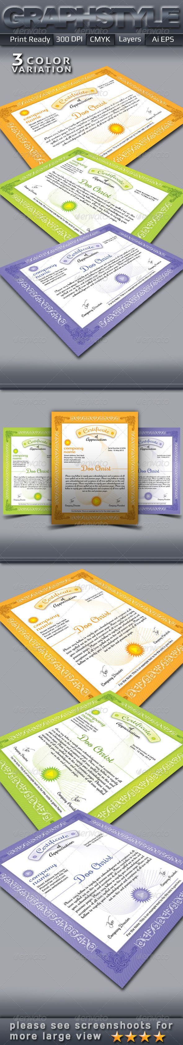 "Certificate_Templates  #GraphicRiver        Certificate_Templates 8.75×11.25"" print dimension with Bleed + Trim Mark, Well Layered Organised (EPS), 300DPI, CMYK , Print ready, 3 Color Variations & Fully Editable, Text/fonts/colors editable. Whats you get in the main files 1. 3 Print ready layered CMYK EPS Flyers. 2. 1 Help files (.txt). 3. Free fonts html links. If you like, please rate this… Do You Need Professional Custom Design? I am available for freelance work. Contact me if you are…"