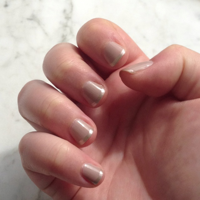 chanel frenzy and metallic french tip