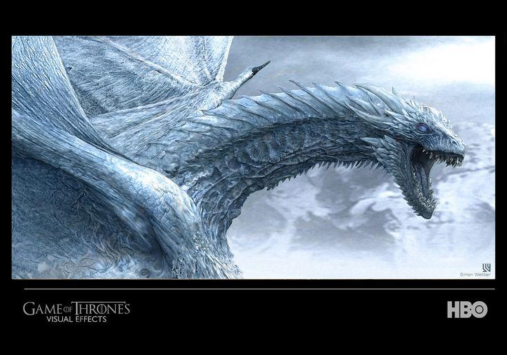 Game of Thrones (GOT) example #282: ArtStation - Viserion Wight concept - Game of Thrones season 7, SIMON WEBBER