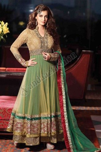 Cream, Green Net Churidar Suit. Price:- £99.00 Design No. DMV12761  Quick Overview:- Dress Type:	Churidar Suit, Fabric:	Net,   Colour:	Cream with Green, Embellishments:	Embroidered, Stone, Zari work.  For More Details Visit @ http://www.andaazfashion.co.uk/salwar-kameez/anarkali-suits/cream-green-net-churidar-suit-dmv12761.html