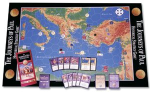 Journey's of Paul Bible Game - Each player in the game plays a missionary who, like Paul, travels through the Roman Empire and attempts to start churches in several key cities.