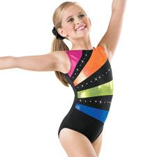 Metallic Inset Tank Gymnastics Leotard; Balera     $34.95. Have it! (note: I had to get a size smaller than I would for gk)