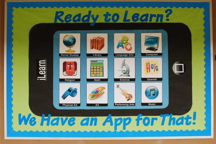 Ready To Learn? We Have An App For That! | Technology Themed Back-To-School Board