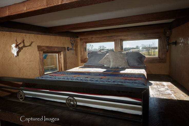 The Bushwhacker tiny home: a 214 sq ft hunting cabin designed and built by Cabins MFG Inc.