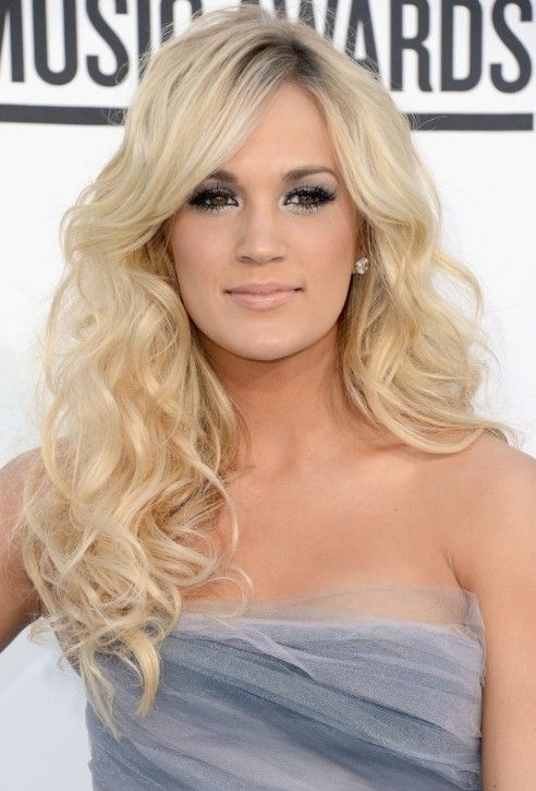 sidebang pics | Long Curly Hairstyle with Side Bangs for 2013 | Hairstyles Weekly
