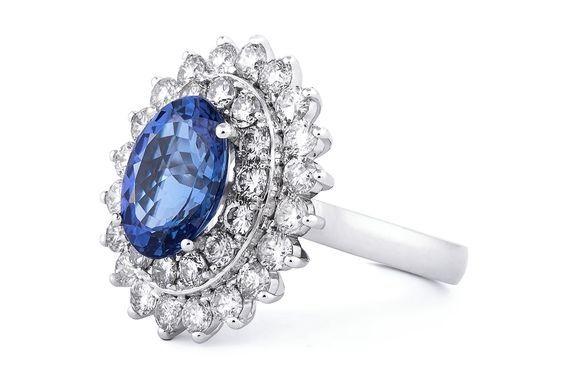 Tanzanite and diamond ring by GALACIA DESIGNER JEWELLERY.