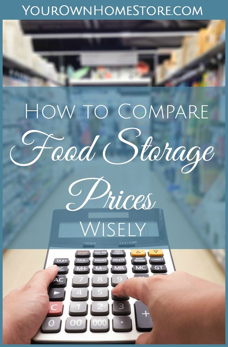 How to compare food storage prices | best food storage prices