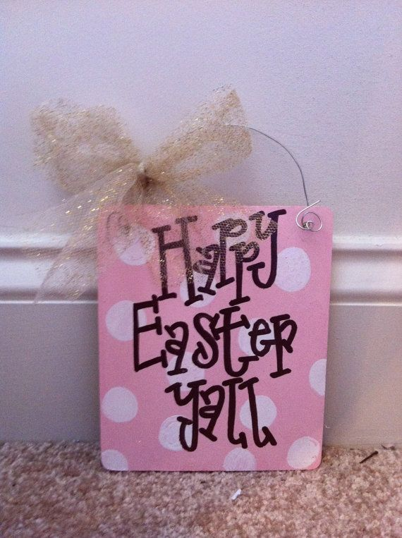 Hand painted easter sign by alihaynes on Etsy