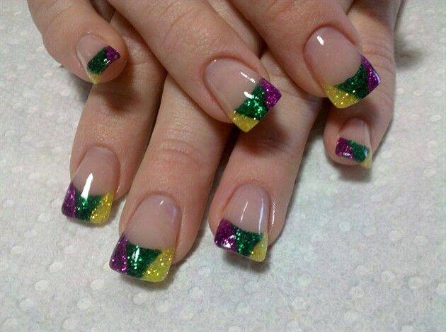Mardi Gras nail art @alexandria nagel nagel Estrada   can we do this next time?