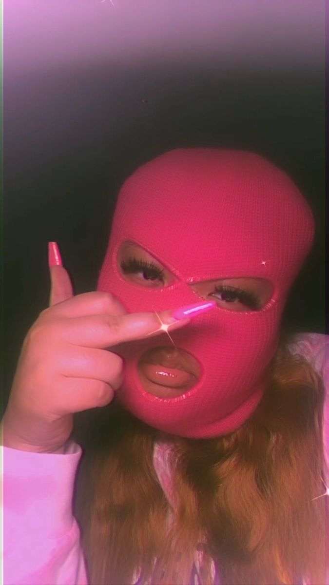 Gangster Girl Baddie Pink Ski Mask Aesthetic : gangster, baddie, aesthetic, Mask💗, (Instagram:@itsmaliaa), Girl,, Gangster, Wallpaper