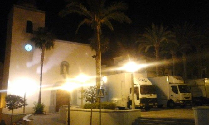 Las cámaras de tve están en San Miguél de Salinas, para retransmitir en directo la Santa misa del día del Señor  del Domingo 21-06