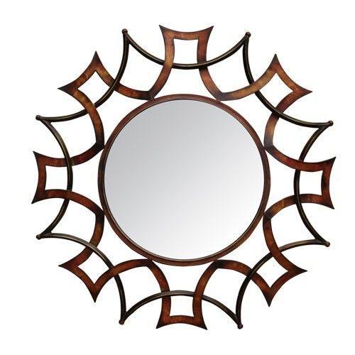 Στρογγυλός μεταλλικός καθρέπτης τοίχου. Ένας υπέροχος καθρέπτης ο οποίος θα στολισει το χώρο σας.