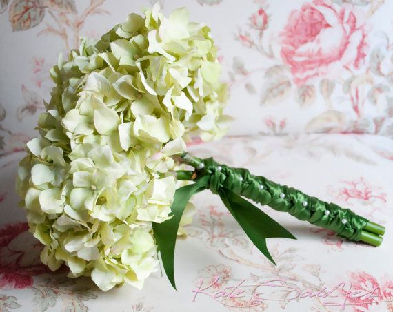 Light Green Hydrangea Wedding Bouquet