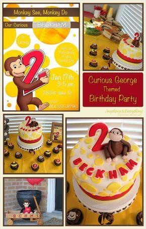 Happy Birthday Beckham! - Curious George themed Birthday Party - Anything & EverythingAnything & Everything