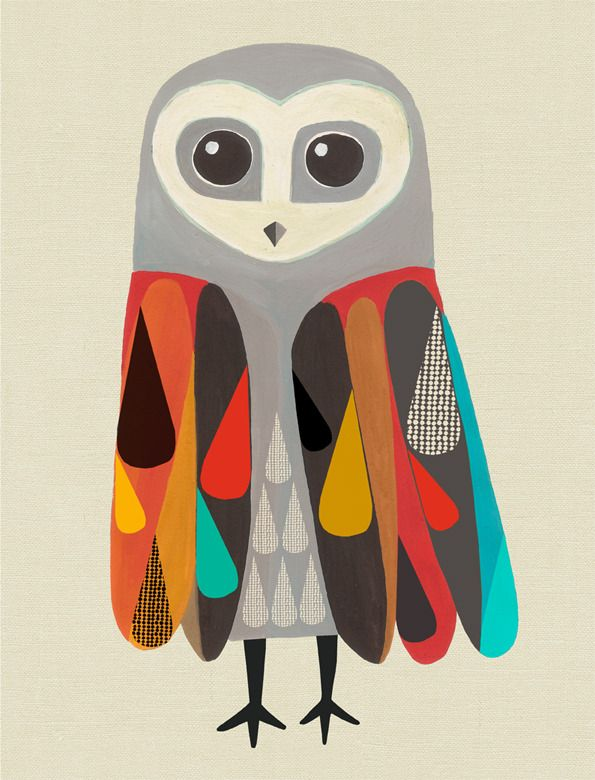 iheartprintsandpatterns: Inaluxe Love this owl too.