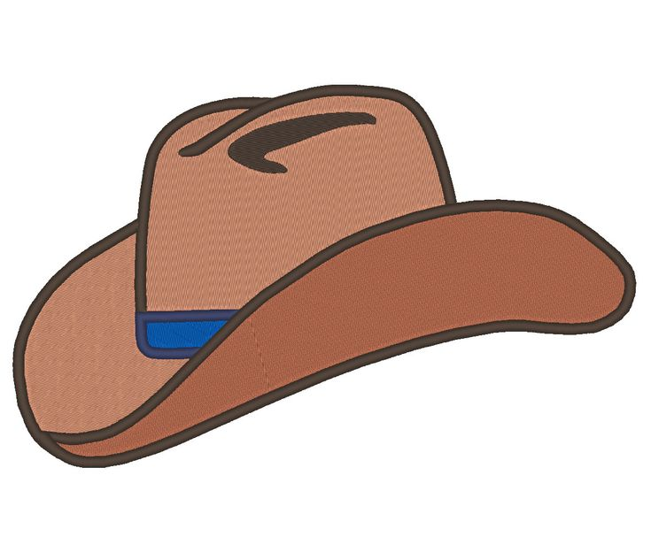 Cowboy Hat Embroidery Machine Design by OCDEmbroidery on Etsy