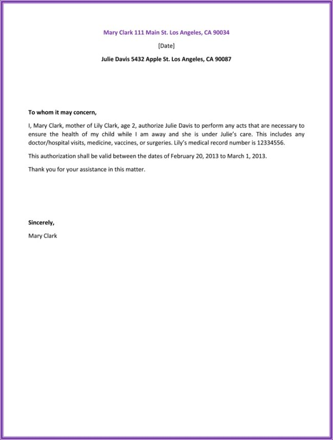 sample letter authorization health free samples amp templates - letter of authorization letter