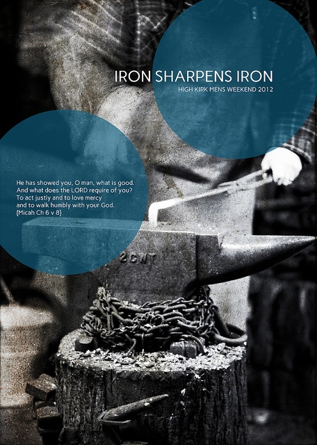 Iron Sharpens Iron - Men's Ministry Graphic by supersimbo on Flickr