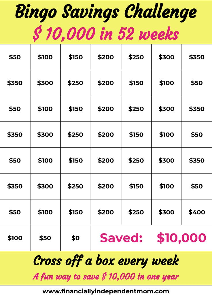 Pick the money savings challenge that fits your needs. Save $10000 in 52 weeks a… – Apartment