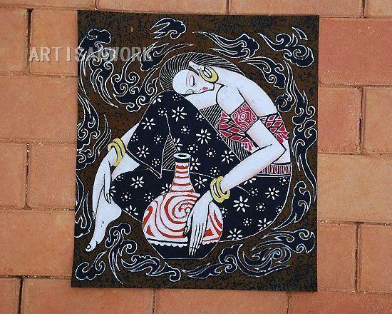 Cheap Cera Batik único de impresión Artisan trabajo artesanía 2192 envío gratis, Compro Calidad   directamente de los surtidores de China:      100% natural, respetuoso del medio ambiente batik. Wonderful decoración del arte.  Favorate colección de arte.  Tie