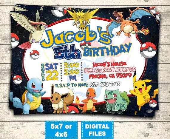 Exceptionnel Best 25+ Pokemon birthday card ideas on Pinterest | Pokemon  YN41