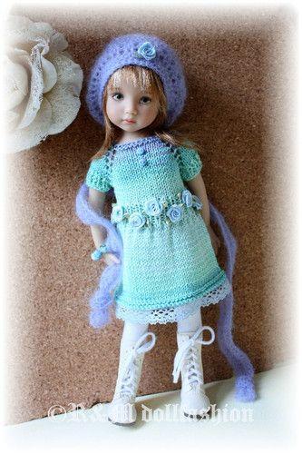 "Hand Knit Set by R M Dollfashion for Effner 13"" Iplehouse Kid Kish 14"" BJD Dolls"