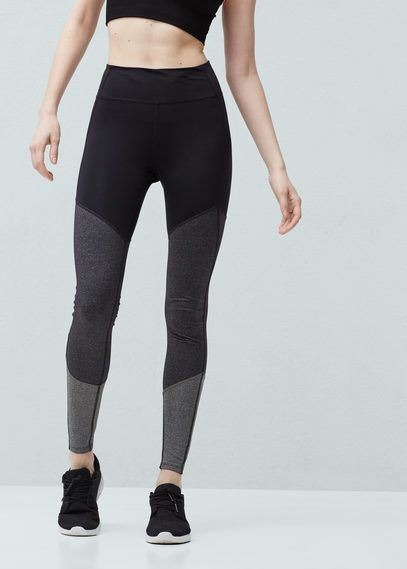 MANGO Leggings. Love the grey tones.
