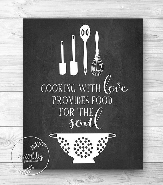 Wall Art Kitchen Quotes : Kitchen chalkboard quotes on