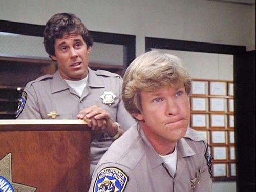 Brodie Greer and Larry Wilcox in CHiPs
