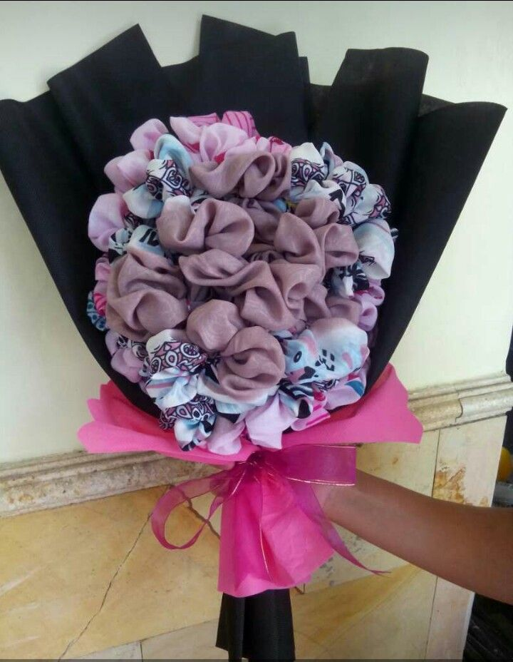 Bouquet From Veil Buket Bunga Dari Jilbab Buket Bunga Buket Bunga Kain
