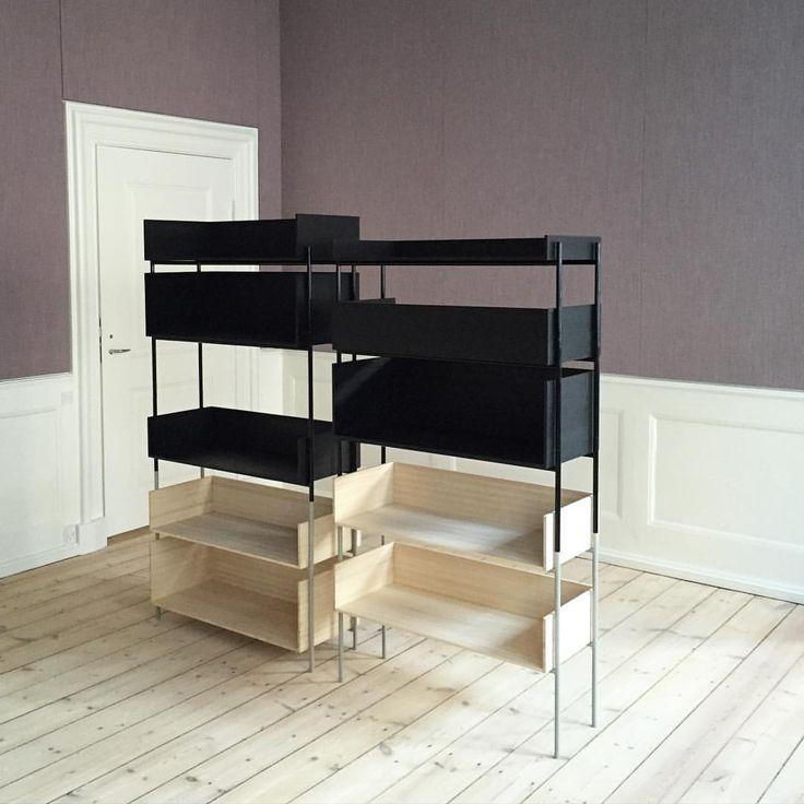 "Margrethe Odgaard ""Vivlio shelfing system"" for Danish Architect's Association with @chrisliljehal @skagerak_denmark"""