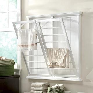 Madison Wall-Mounted Laundry Drying Rack - Towel Racks - Bathroom Organization - Bath   HomeDecorators.com