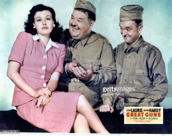 Sheila Ryan with Laurel and Hardy