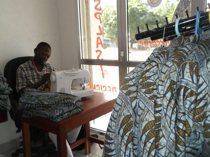 Namadi Tudi aan het werk