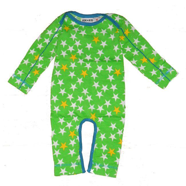 Kik-kid jumpsuit met sterren groen