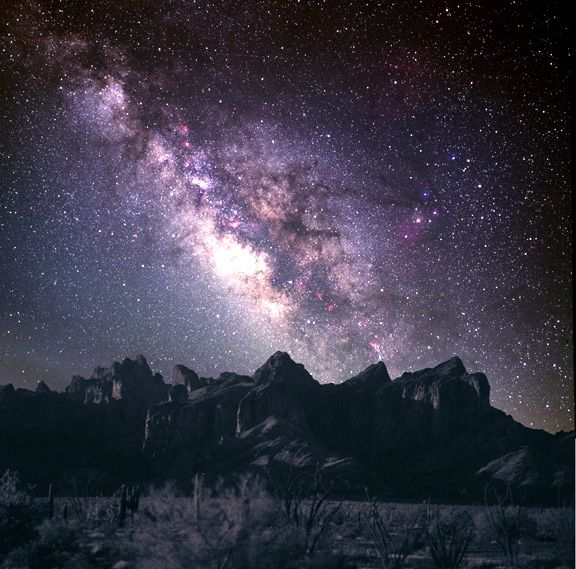 Milky Way over Arizona.
