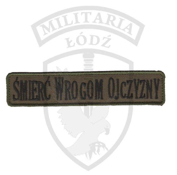 Naszywka Śmierć Wrogom Ojczyzny zielona Militaria Łódź.pl
