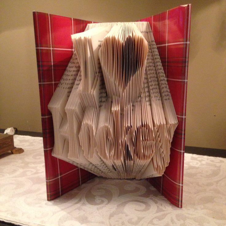 I Love Hockey folded book art