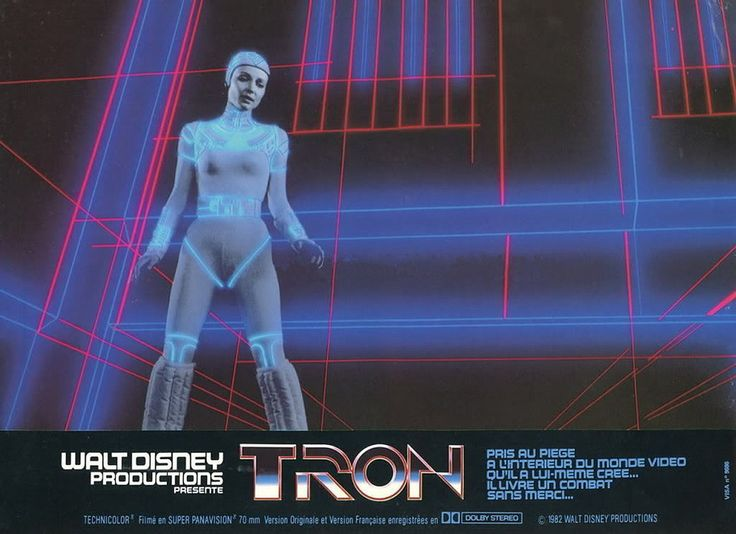 Cindy Morgan in a French lobby card for TRON (1982) #scifi