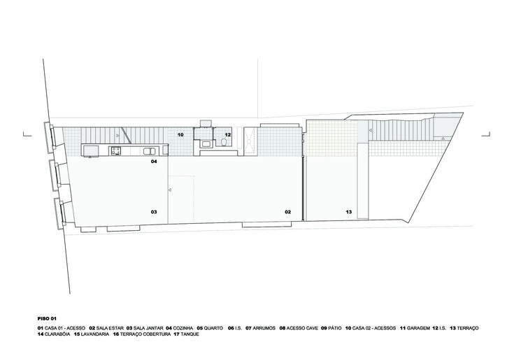 Prazeres House,First Floor Plan