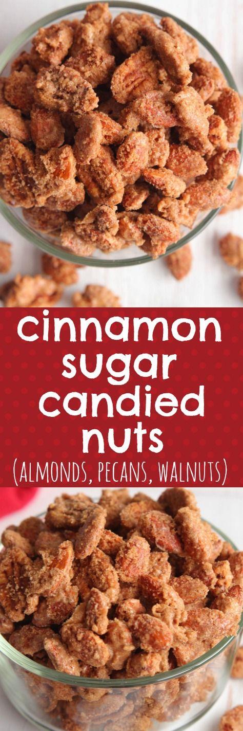 Easy Homemade Cinnamon Sugar Candied Nuts (Almonds, Pecans, Walnuts)