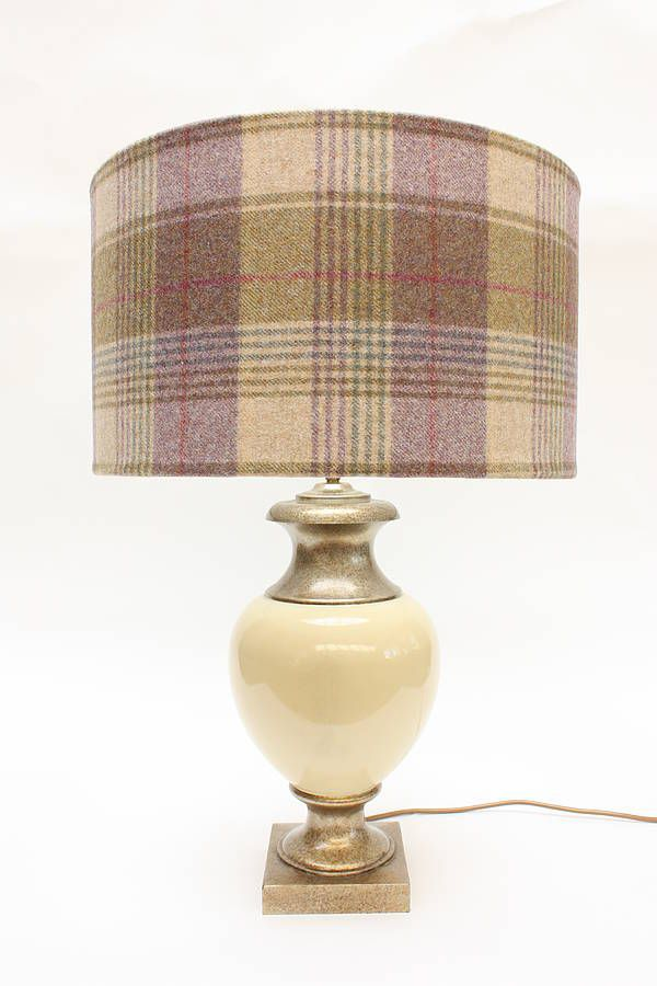 Huntington Tower Lampshade, diff sizes and tartans