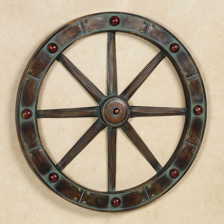Western Wagon Wheel Wall Art Verdi Bronze | Northstar ...